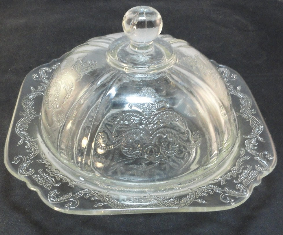 Depression Glass Federal Madrid Pattern Clear by AmyJosAttic