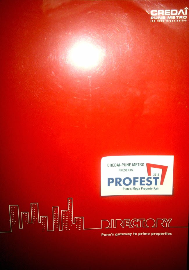 For Free! 24 Pages of useful information + 75 Pages of useless information for every visitor who pays Rs. 25 to visit Pune property exhibition - PROFEST 2012!