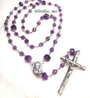 Wire wrapped Rosary with Amethyst