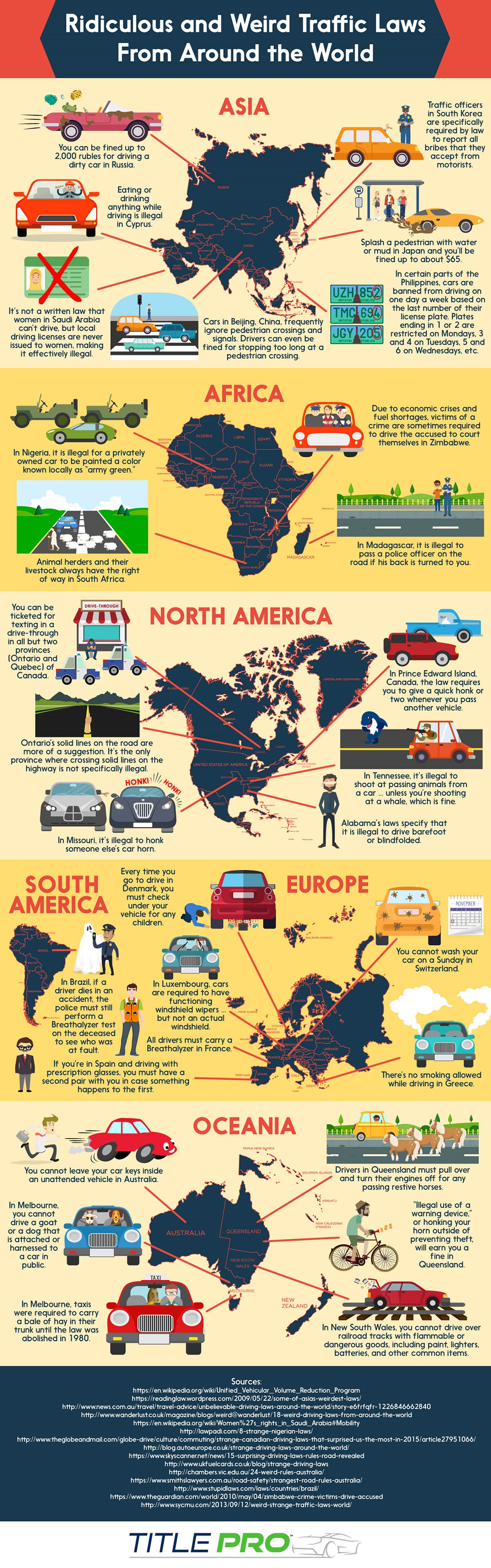 Ridiculous And Weird Traffic Laws Around The World