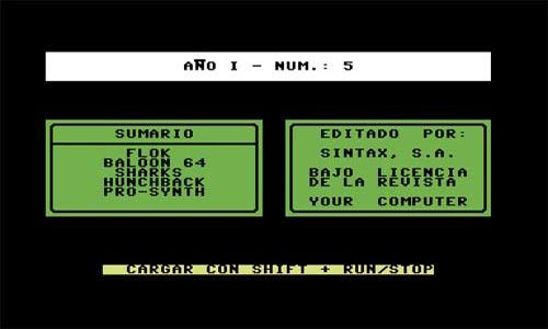 Pantalla presentación your computer 5 - Commodore