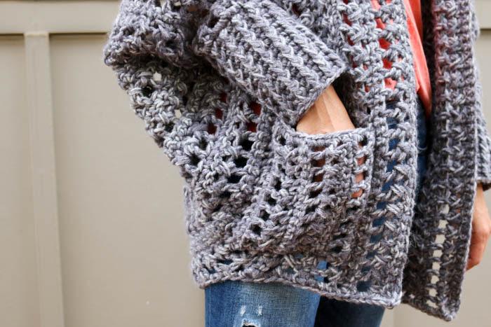 Chart crochet shipping cardigan free chunky pattern easy sizes kuwait