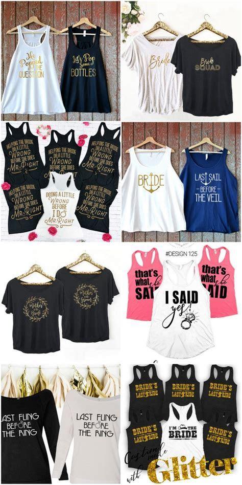 30  Cutest Bridesmaid Shirts and Bridal Party T Shirts Around!