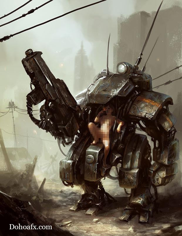 Giáo trình học vẽ chiến binh robot sexy