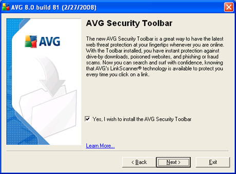 AVG Installation Screen