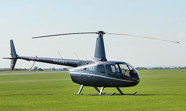 O helicóptero Robinson R66, modelo adquirido pelo Pros