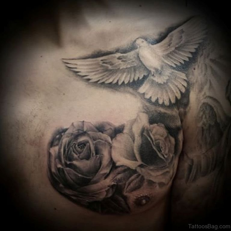 40 Ultimate Dove Tattoos For Chest