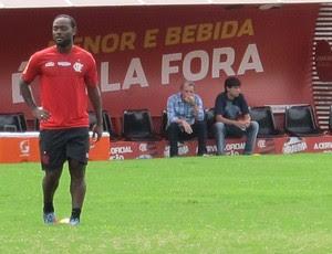 Vagner Love treino Flamengo (Foto: Richard Souza / Globoesporte.com)
