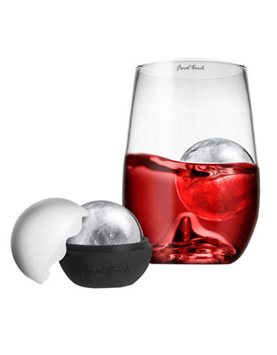 FINAL TOUCH Grand rock highball glass + ice ball - CLEAR