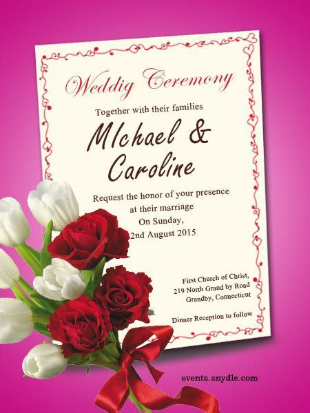 Free online wedding invitation cards   Festival Around the