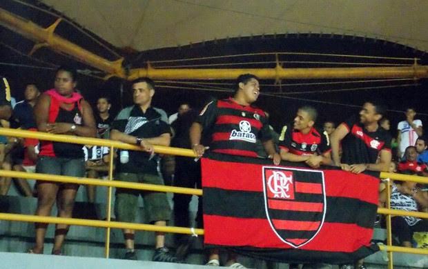 Torcida do Flamengo, na Taça São Luís (Foto: Bruno Alves/Globoesporte.com)