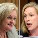 Senators Claire McCaskill, left, and Kirsten E. Gillibrand.