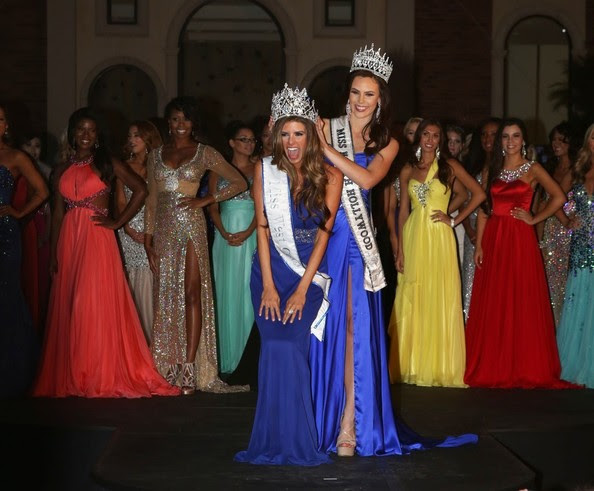 "Vanessa Golub becomes ""Miss West Coast 2014"" after competing at the first annual Miss West Coast Annual Pageant sponsored by 138 Water and held at The Lorenzo in Los Angeles on March 31, 2014. The event judged by actress Natasha Henstridge was hosted by producer Tara Rice and hosted by Entourage' actress and Miss North Hollywood Brittany Wagner.<br /> <br /> Pictured: Vanessa Golub, Brittany Wagner"