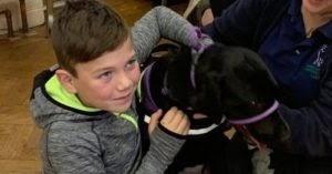 "Boy's ""Tearjerker"" Letter Earns Him An Autism Assistance Dog"