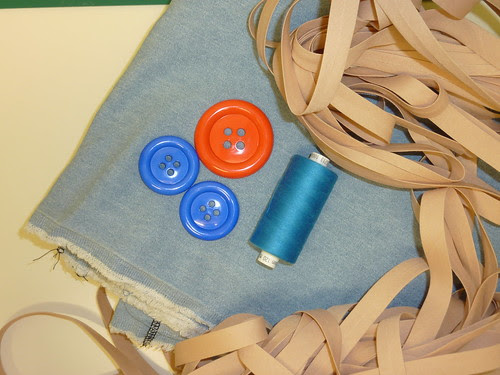39 - Purchases - Lightweight Denim, Buttons and Bias Binding