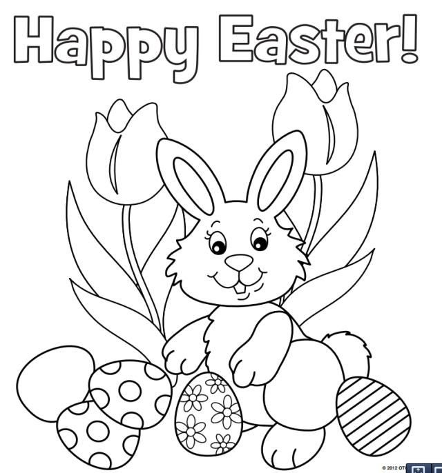 Easter Bunny Coloring Pages at GetDrawings | Free download