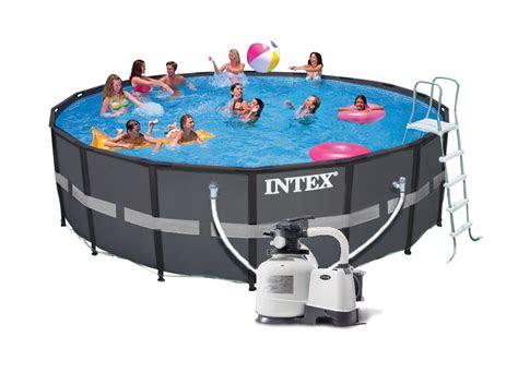 intex ultra xtr frame pool komplett set  eco