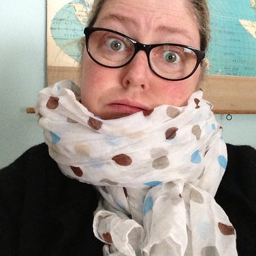 I think my neck is too short for my pretty new scarf!