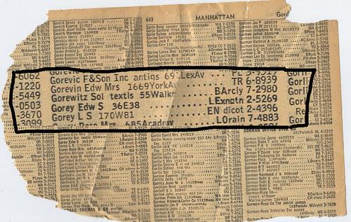 gorey phone listing