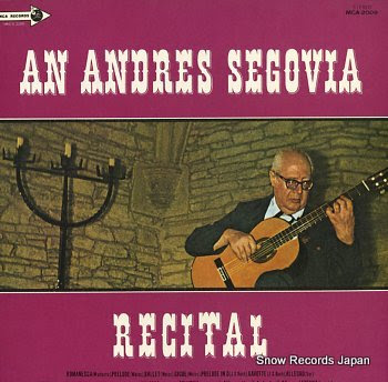 SEGOVIA, ANDRES recital, an