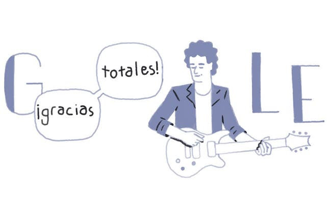 La ilustración animada para recordar a Gustavo Cerati fue la primera en su tipo dedicada a una personalidad argentina. Foto: Gentileza Google