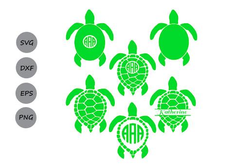 Free Sea Turtle Monogram Svg Sea Turtle Svg Turtle Svg Files Dxf Svg Crafter File