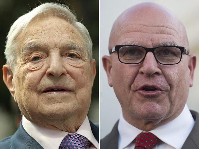 H.R. McMaster and George Soros. (Sean Gallup/Getty, Saul Loeb/AFP/Getty)