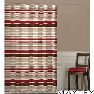 Maytex Meridian Stripe Shower Curtain   Overstock.com Shopping