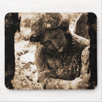 Small Angel-0024 Sepia mousepad