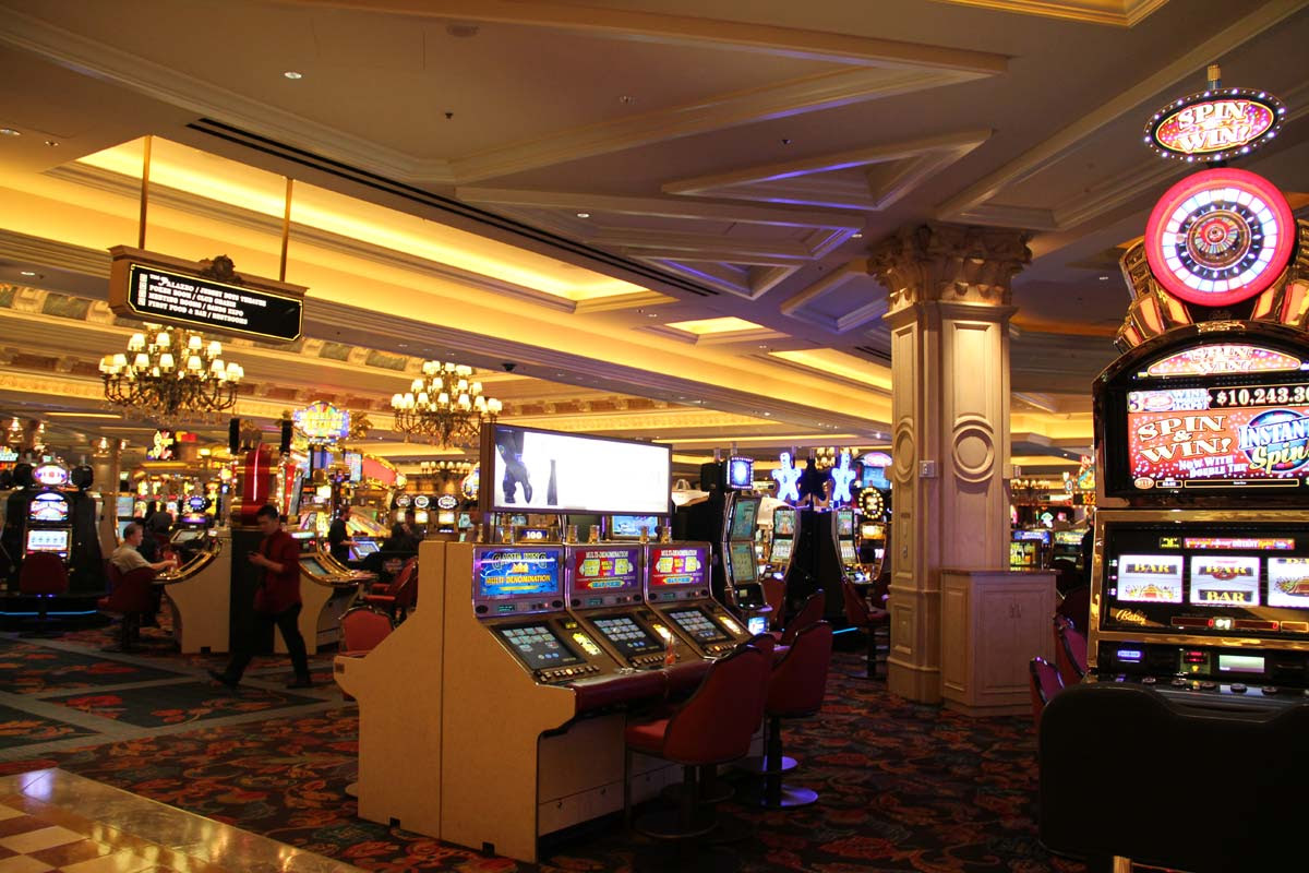 A Feature on the Slot Machines at Bellagio Casino Hotel in Las Vegas