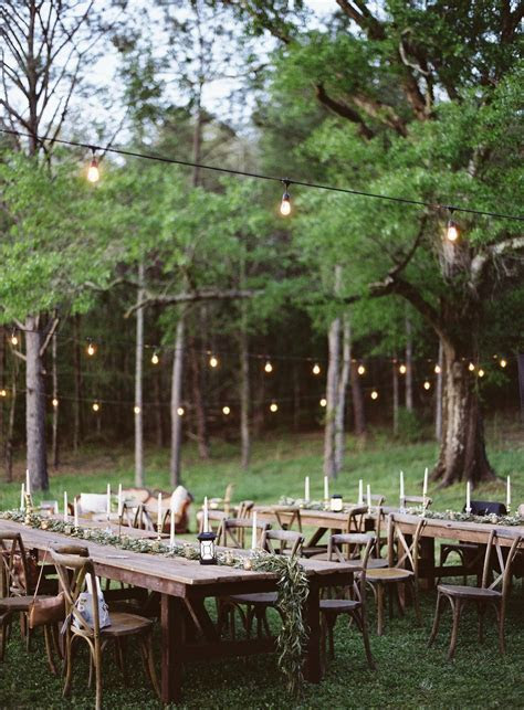 Outdoor Wedding Reception Table Set Up. #organic #boho #