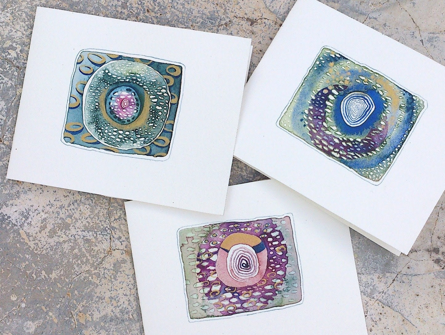 Watercolor cards with original paintings