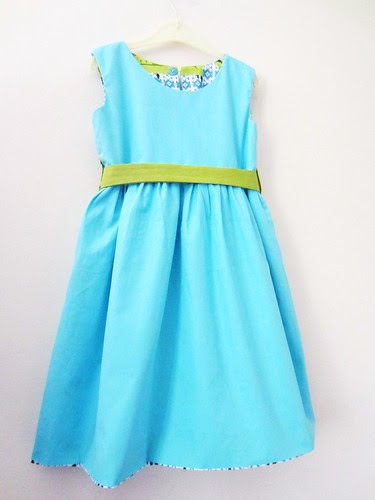 bird therapy party frock- reverse front