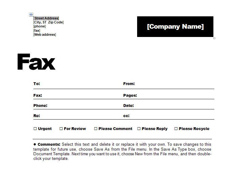 Fax Sheet Contemporary
