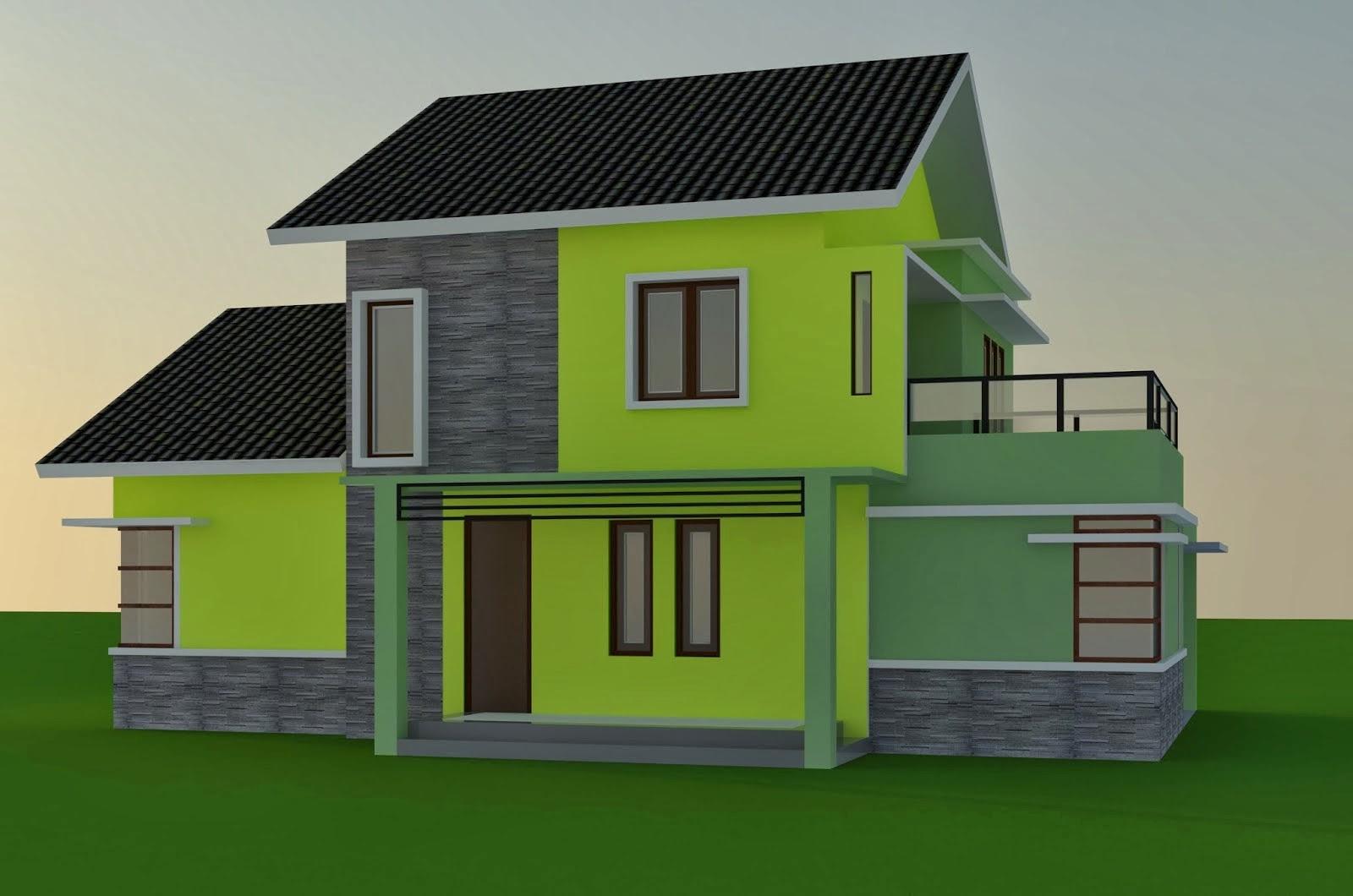 10 Kombinasi Warna Cat Rumah Hijau Untuk Rumah Minimalis ...