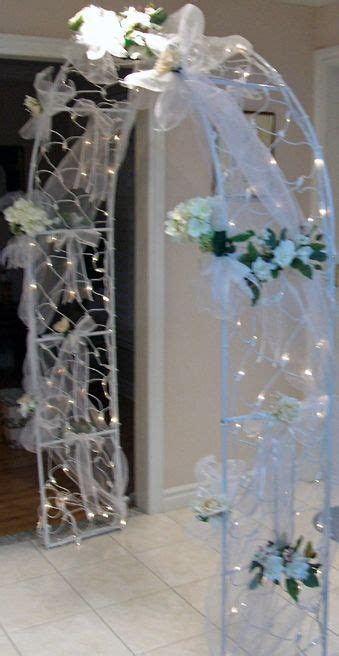 idea  decorate  arch ideas wedding columns