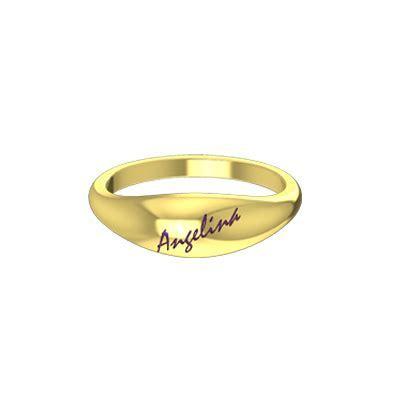 Kerala hindu wedding goldring with name in yellow gold 22K