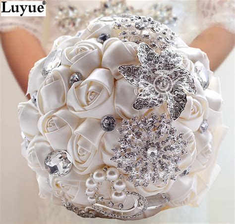Online Buy Wholesale crystal wedding bouquets from China