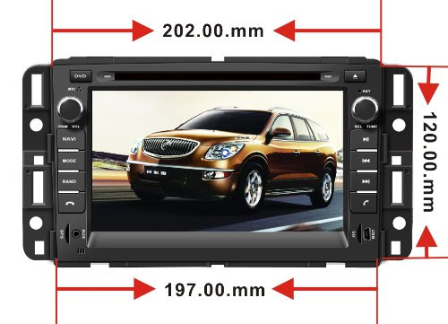 In Dash Oem Replacement Radio Dvd Gps Navigation Headunit For Gmc Yukon 2007