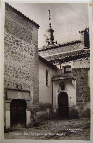 Parte trasera de la Iglesia de San Justo a principios del siglo XX