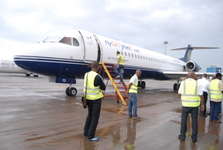 CTK Citylink Airlines Fokker 100 in happier times.
