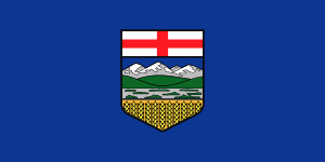English: Flag of Alberta Français : Drapeau de...