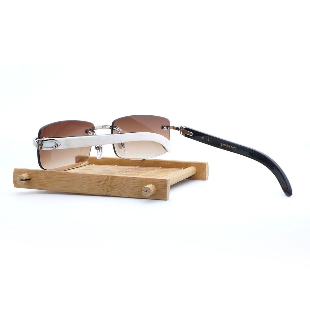 c8b95eb23a Best Fashion Sale  Hurry! Limited Buffalo Horn Sunglasses Men Sun ...