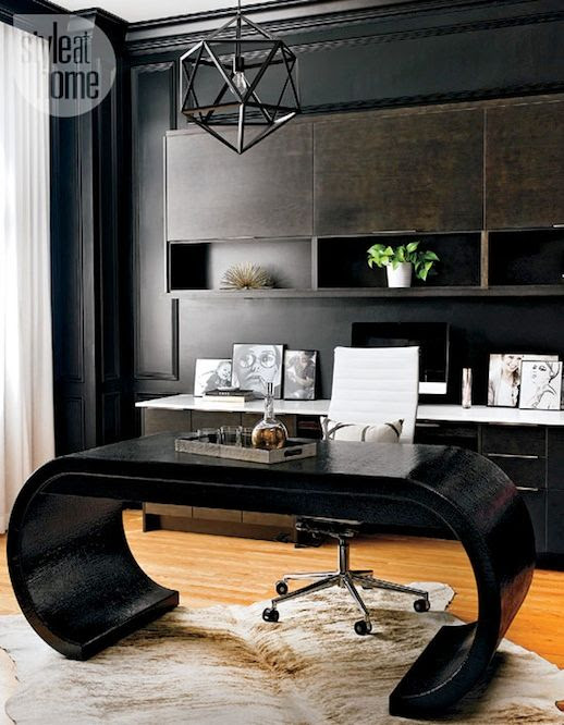 Le Fashion Blog A Fashionable Home Mid Century Modern Glamour Canada Style At Home Magazine Sarah Blakely Black Walls Office 3 photo Le-Fashion-Blog-A-Fashionable-Home-Mid-Century-Modern-Glamour-Canada-Style-At-Home-Magazine-Sarah-Blakely-Black-Walls-Office-3.jpg