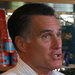 Mitt Romney, on break from debate preparation but not the media, at a pizza restaurant Wednesday in New Hampshire.