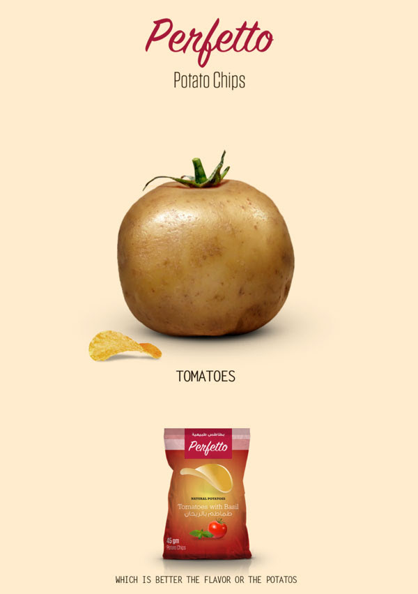 Perfetto Potato Chips Packaging design Campaign 3 30+ Crispy Potato Chips Packaging Design Ideas