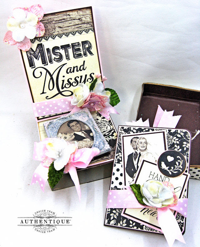 Mister and Missus Easel Style Gift Box Always by Kathy Clement Product by Authentique Photo 6