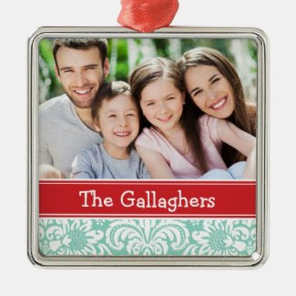 Custom Family Photo Keepsake Holiday Ornament