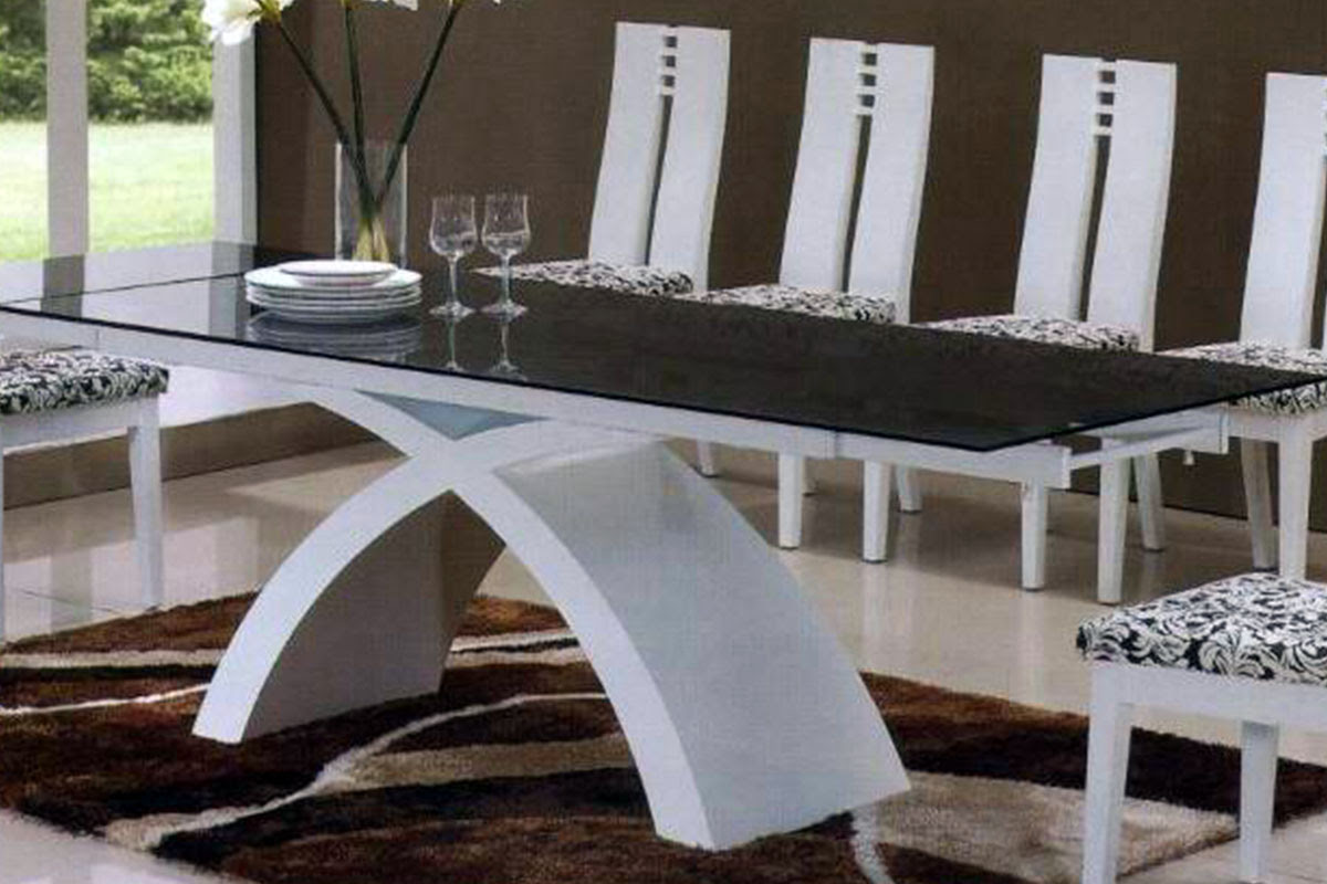 Buy Glass Dining Table And White Leather Chairs In Lagos Nigeria
