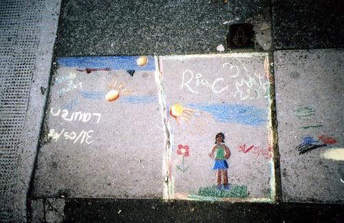 catford sidewalk painting
